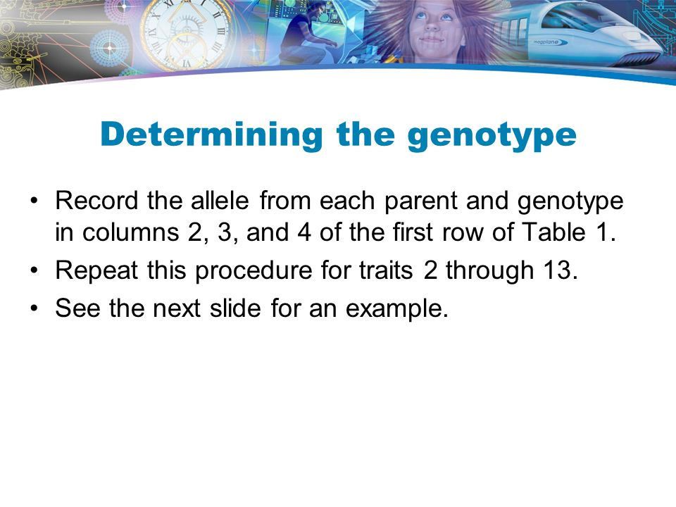 Determining the genotype