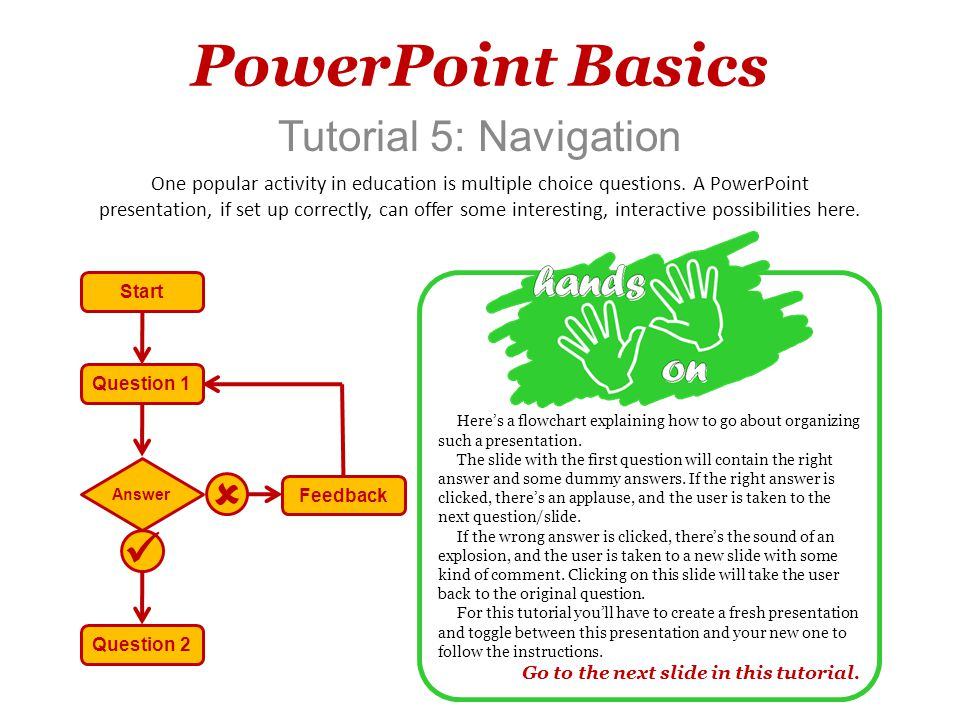 PowerPoint Basics   Tutorial 5: Navigation