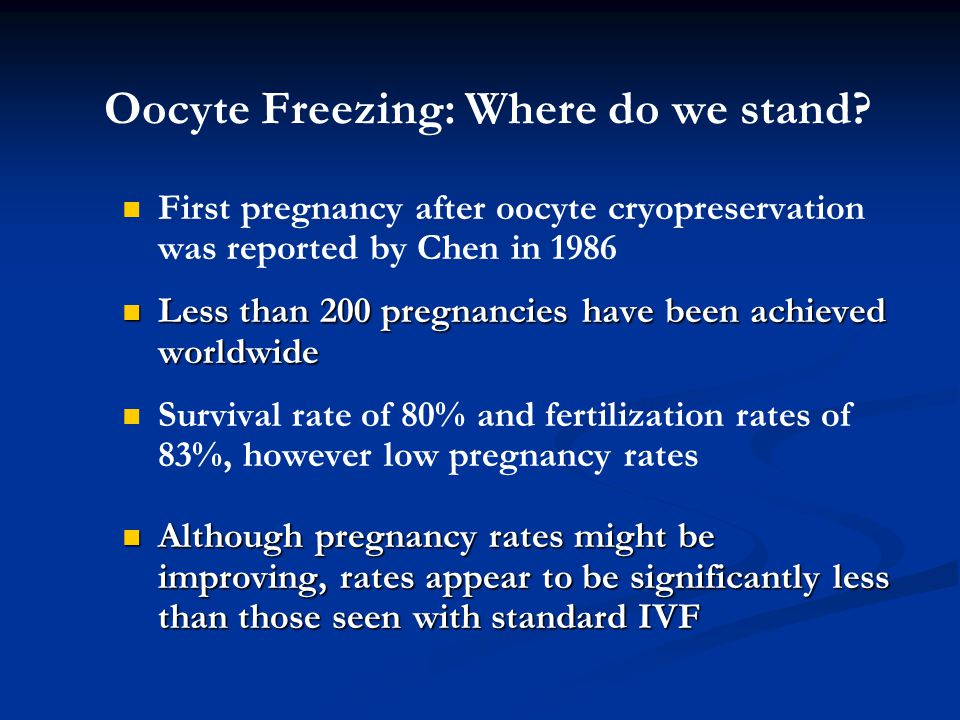 Oocyte Freezing: Where do we stand