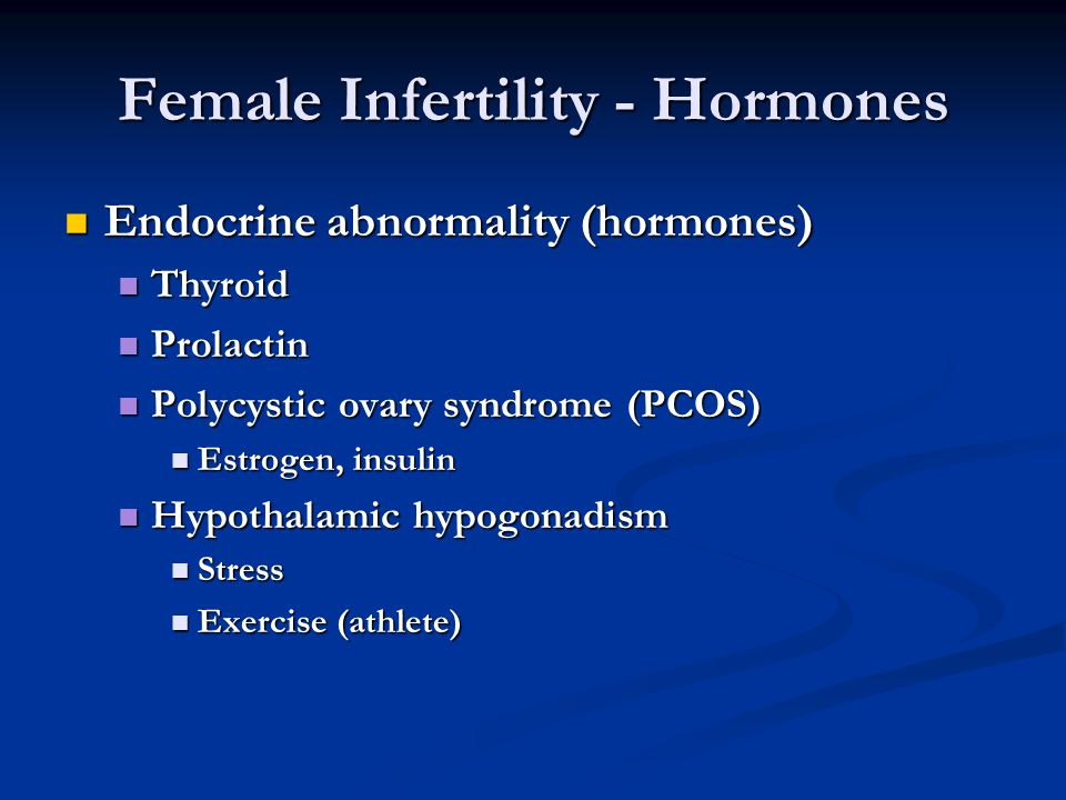 Female Infertility - Hormones