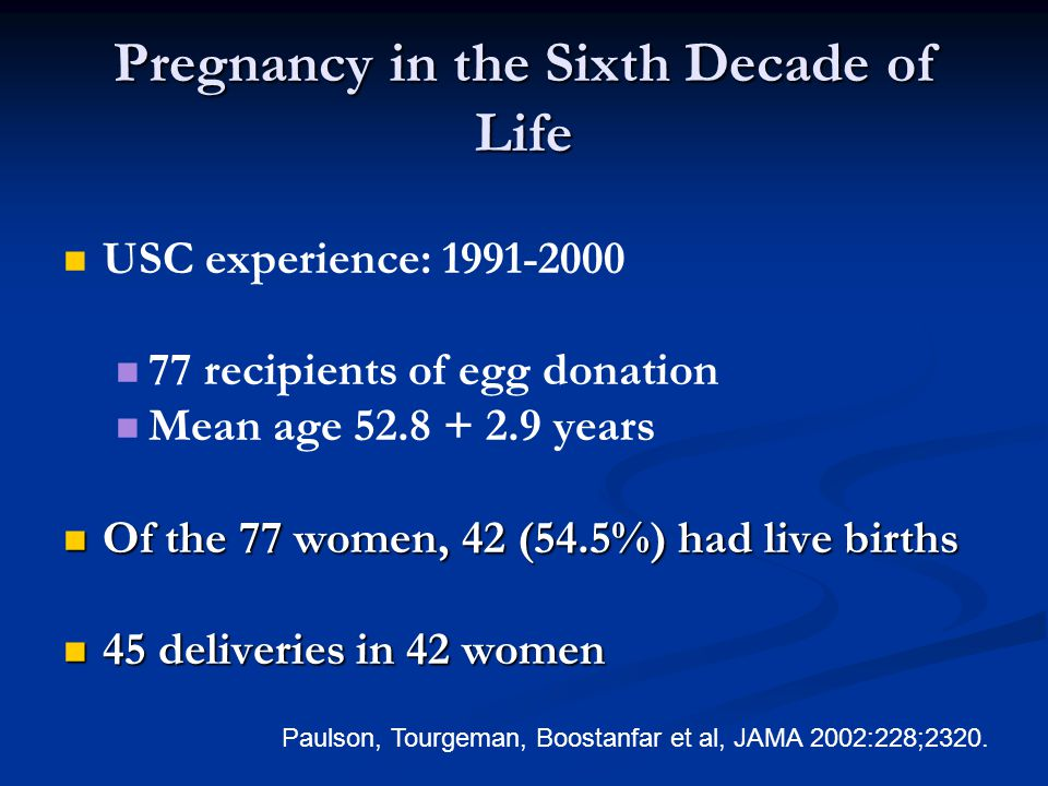 Pregnancy in the Sixth Decade of Life