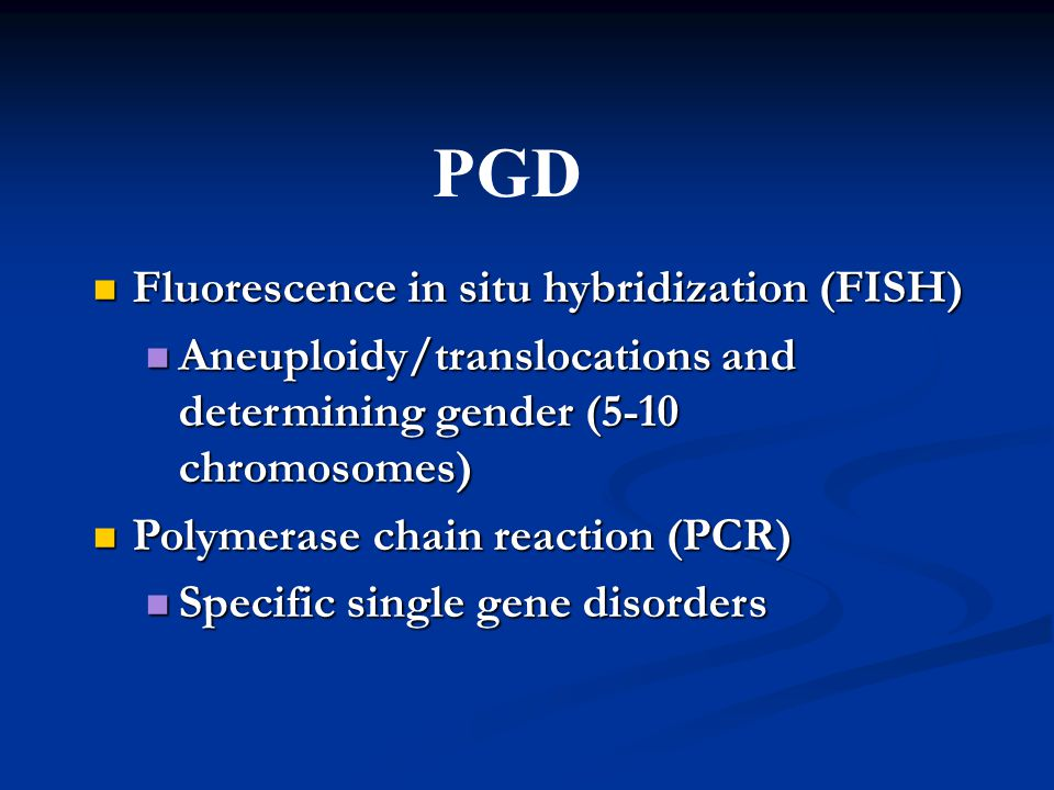 PGD Fluorescence in situ hybridization (FISH)