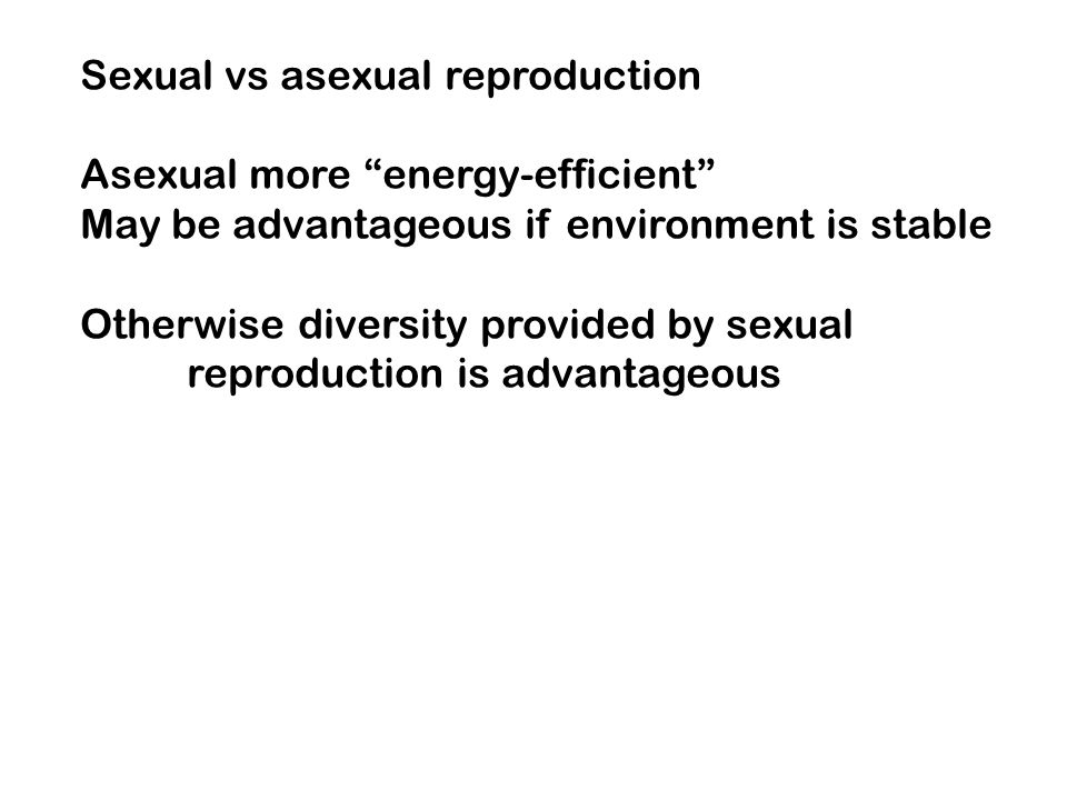 Sexual vs asexual reproduction