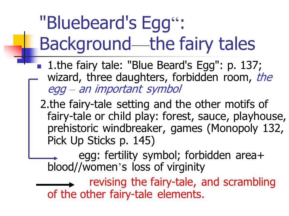 Bluebeard s Egg : Background—the fairy tales