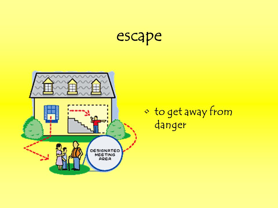escape to get away from danger