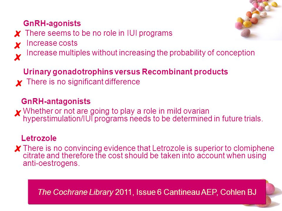 The Cochrane Library 2011, Issue 6 Cantineau AEP, Cohlen BJ
