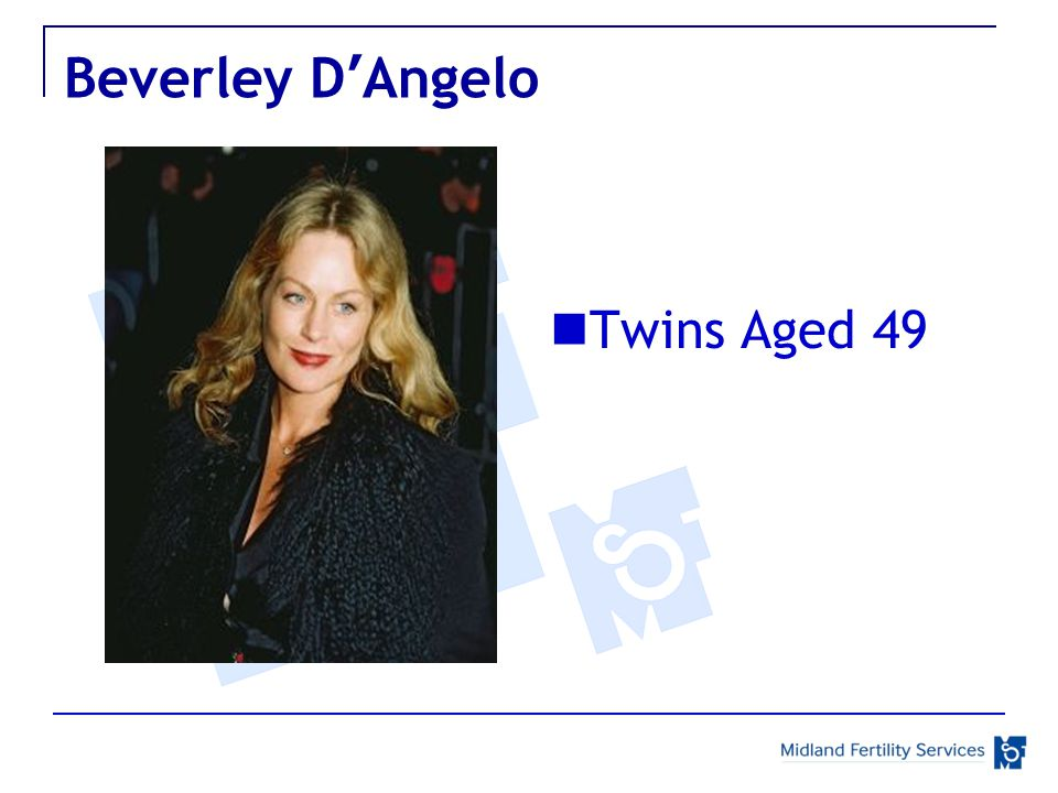 Beverley D'Angelo Twins Aged 49