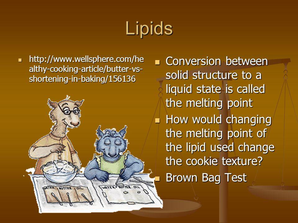 Lipids http://www.wellsphere.com/healthy-cooking-article/butter-vs-shortening-in-baking/156136.
