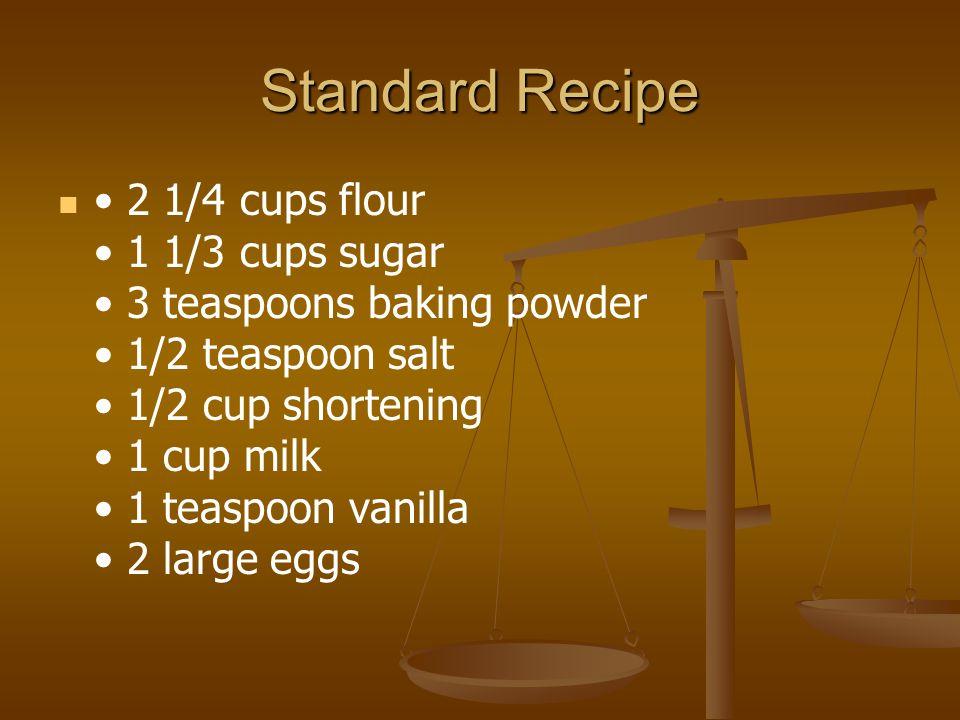 Standard Recipe