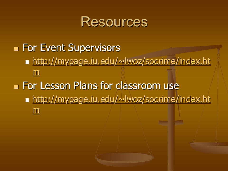 Resources For Event Supervisors For Lesson Plans for classroom use