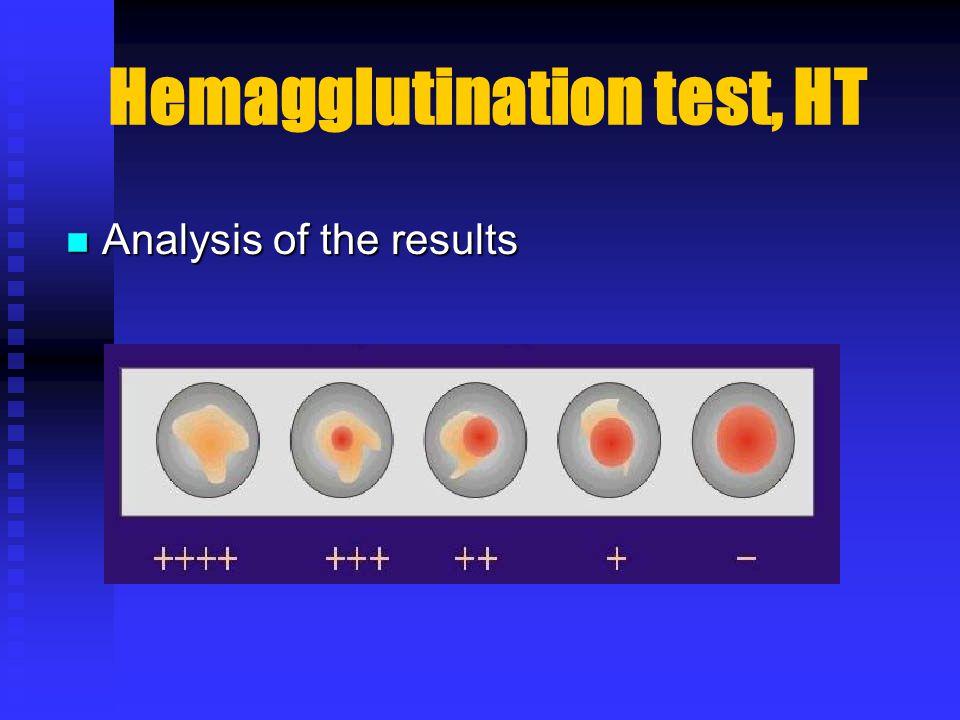 Hemagglutination test, HT