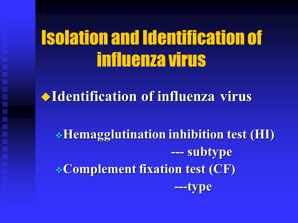 Isolation and Identification of influenza virus
