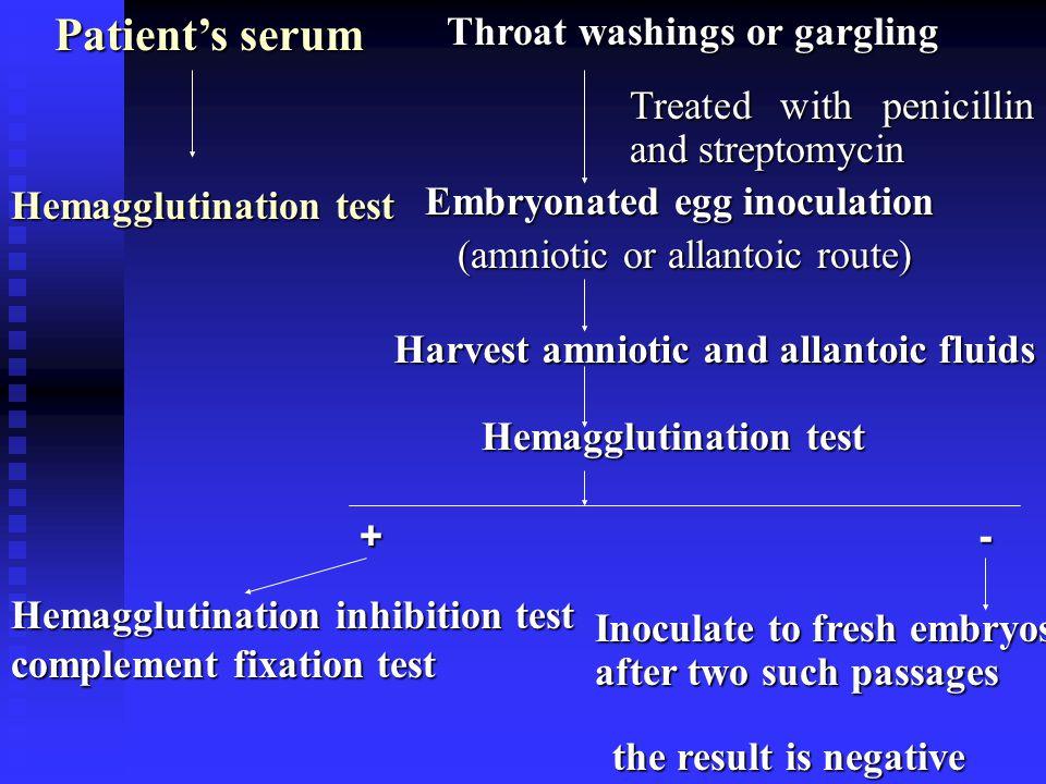 Embryonated egg inoculation