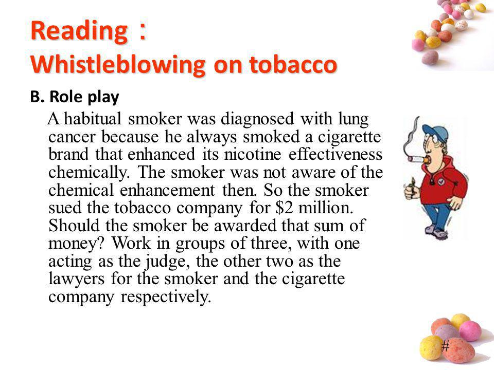 Reading: Whistleblowing on tobacco