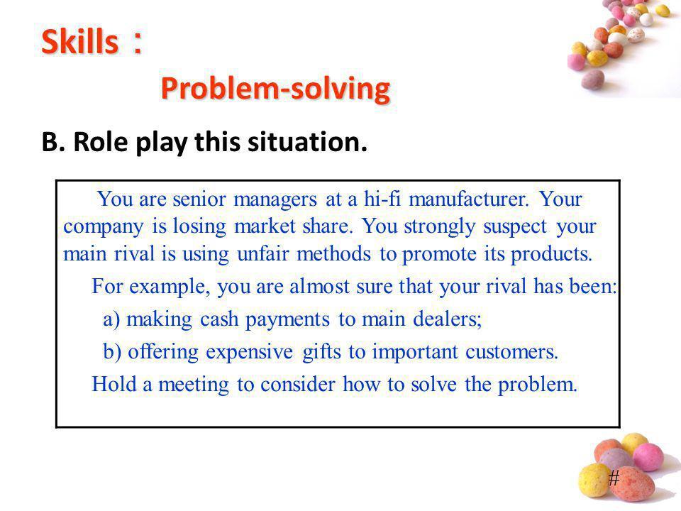 Skills: Problem-solving