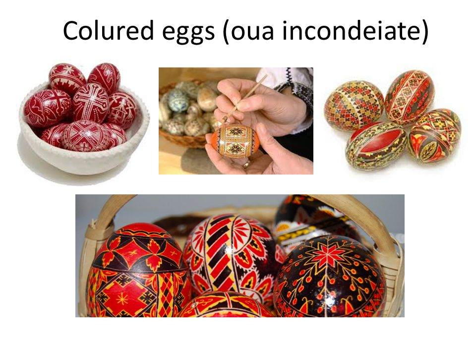 Colured eggs (oua incondeiate)
