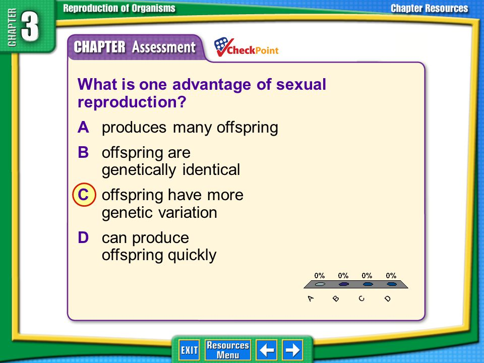 What is one advantage of sexual reproduction
