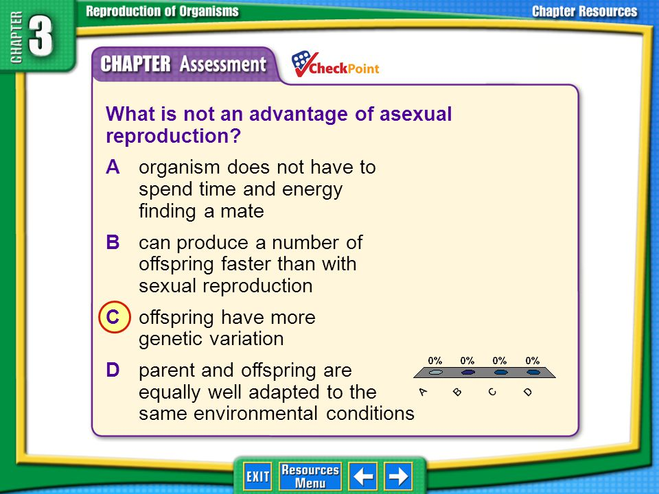 What is not an advantage of asexual reproduction