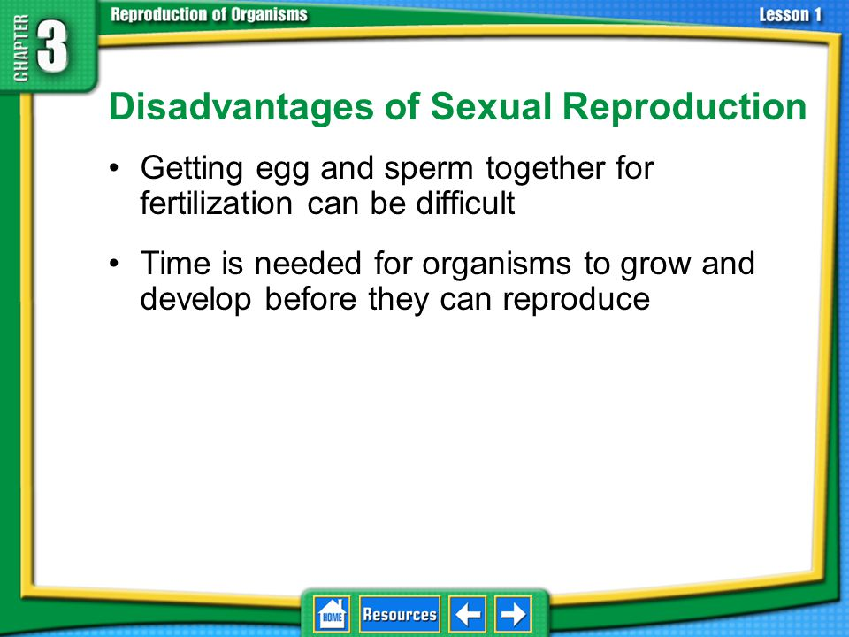 Disadvantages of Sexual Reproduction