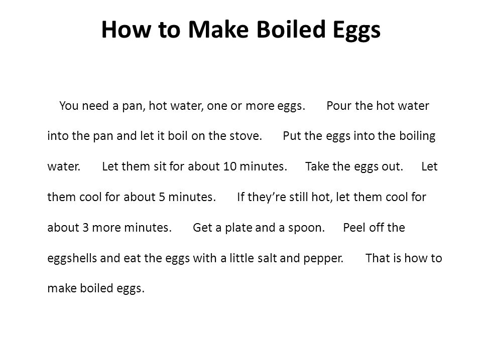How to Make Boiled Eggs