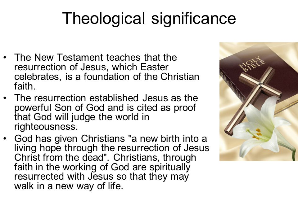 Theological significance