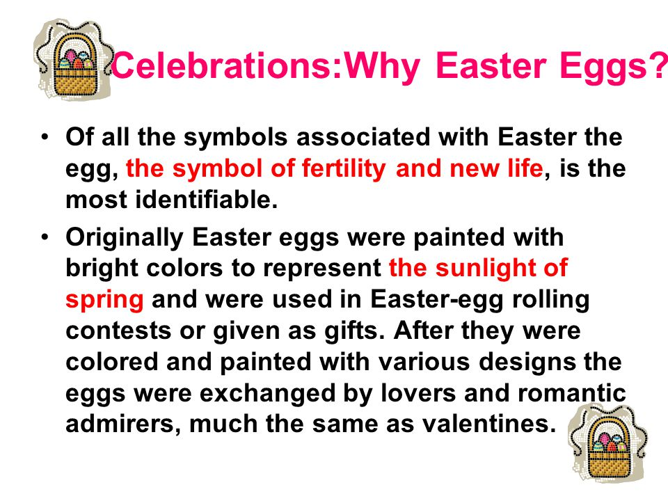 Celebrations:Why Easter Eggs