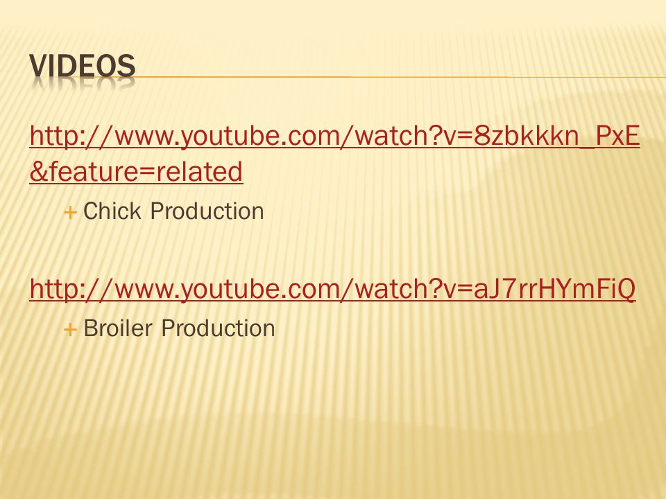 Videos http://www.youtube.com/watch v=8zbkkkn_PxE&feature=related