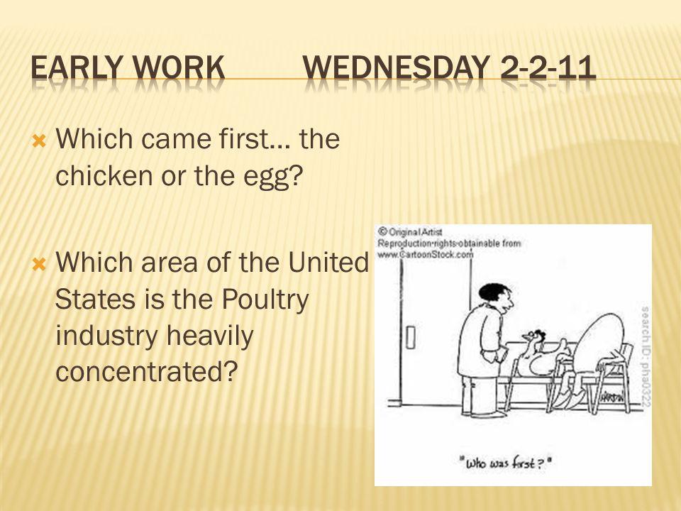 Early Work Wednesday 2-2-11