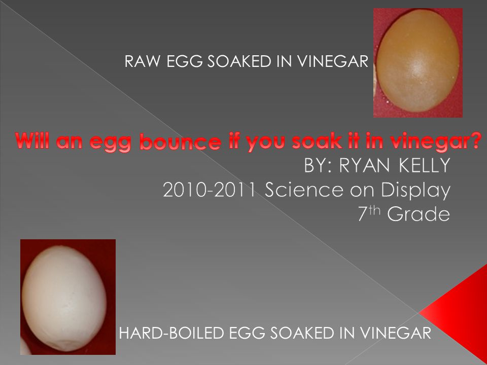 Will an egg if you soak it in vinegar