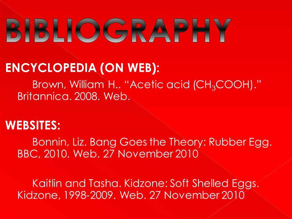BIBLIOGRAPHY ENCYCLOPEDIA (ON WEB):