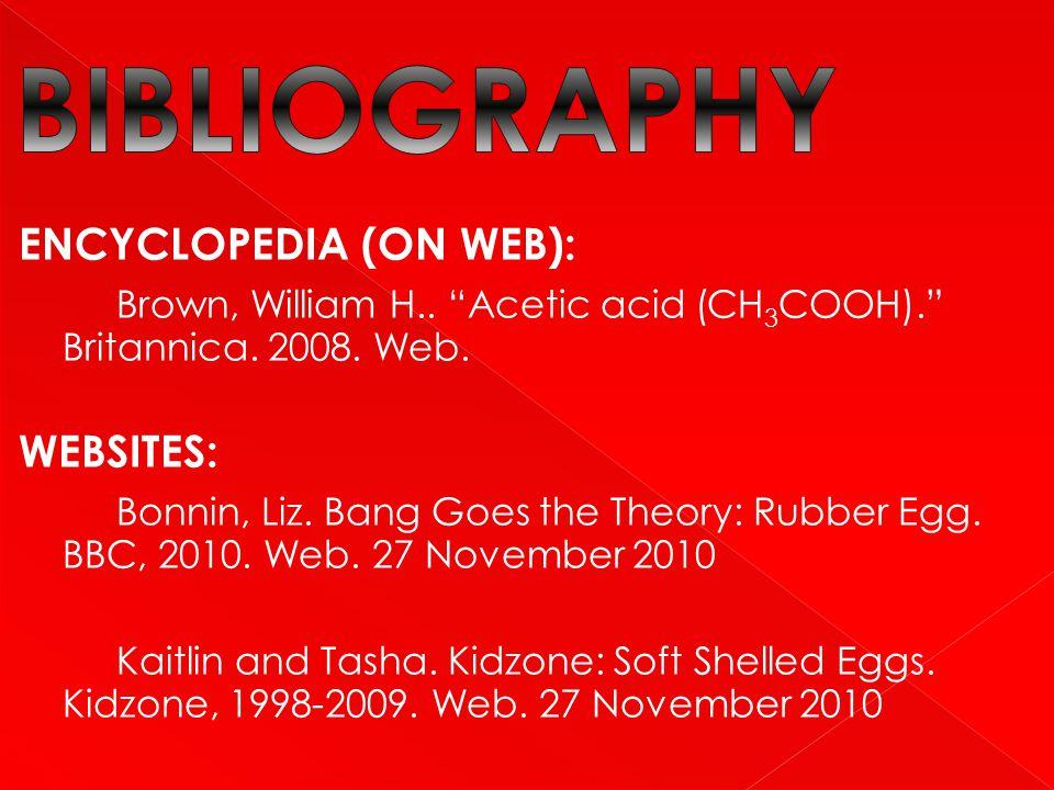 BIBLIOGRAPHY ENCYCLOPEDIA (ON WEB):
