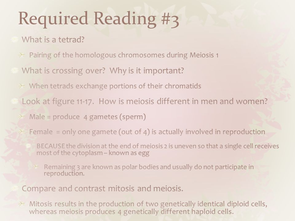 Required Reading #3 What is a tetrad