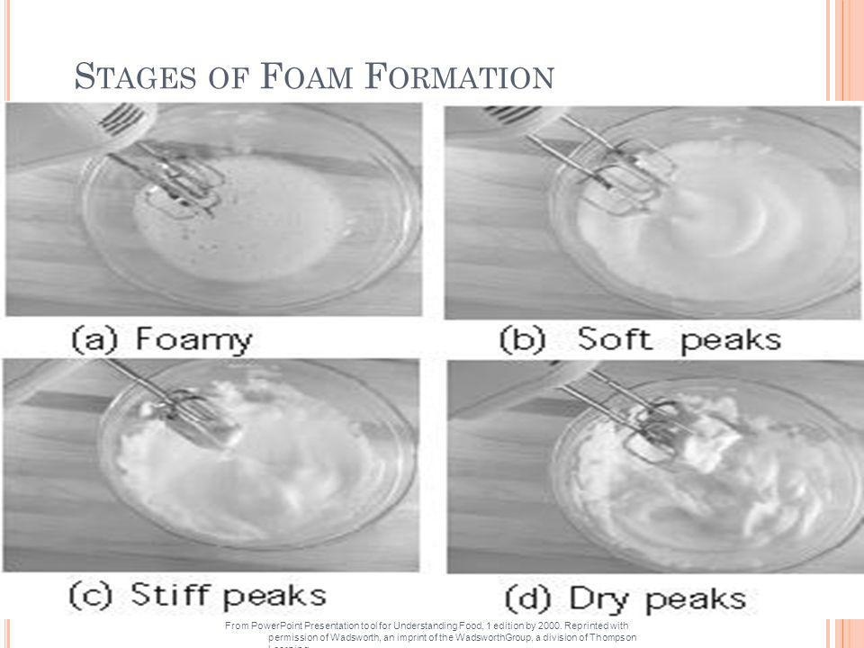 Stages of Foam Formation