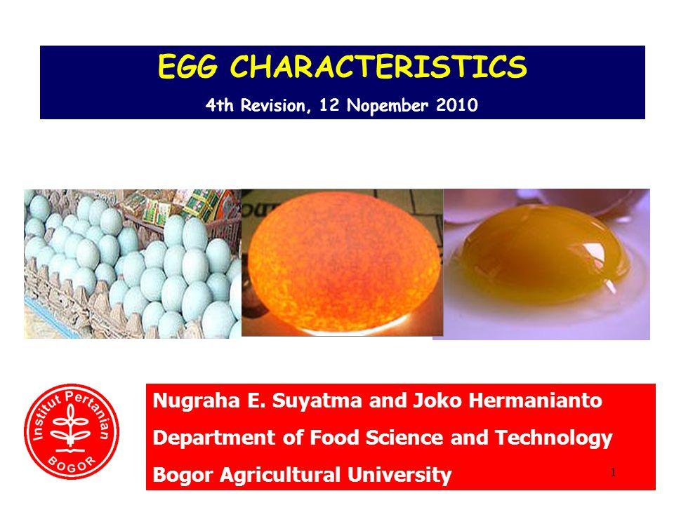EGG CHARACTERISTICS Nugraha E. Suyatma and Joko Hermanianto