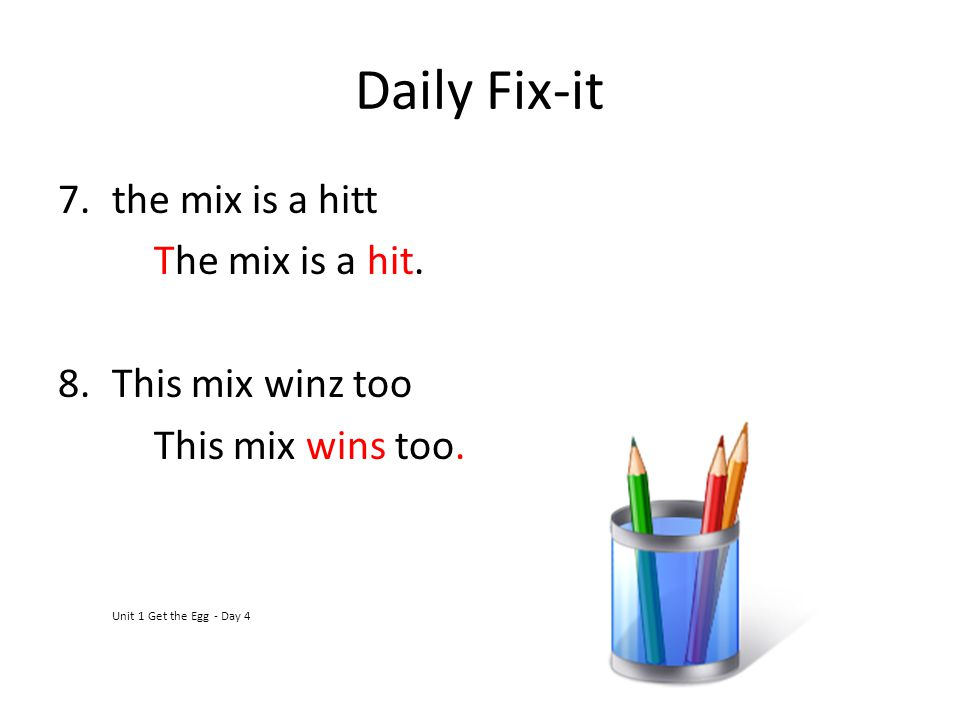 Daily Fix-it the mix is a hitt The mix is a hit. This mix winz too