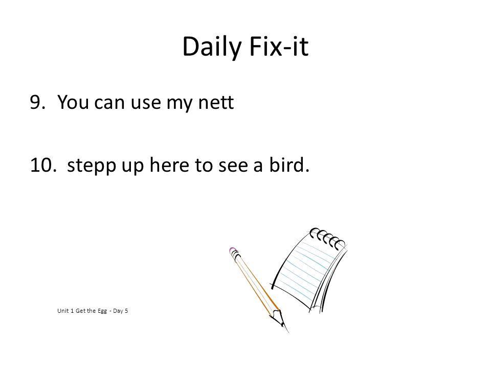 Daily Fix-it You can use my nett stepp up here to see a bird.