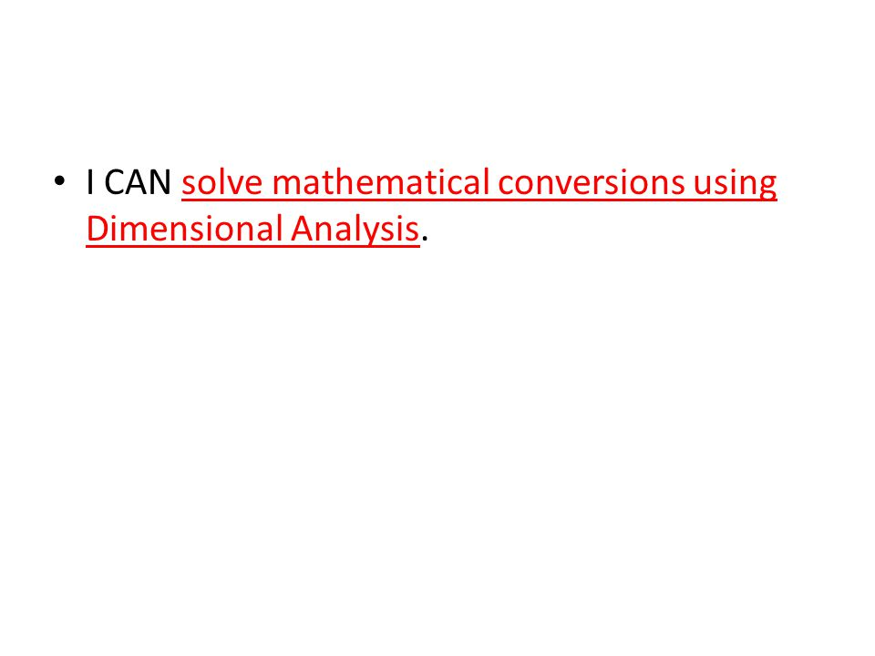 Solving Scientific Problems Mathematically ppt download – Dimensional Analysis Problems Worksheet