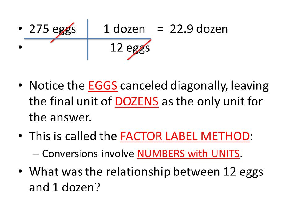 This is called the FACTOR LABEL METHOD: