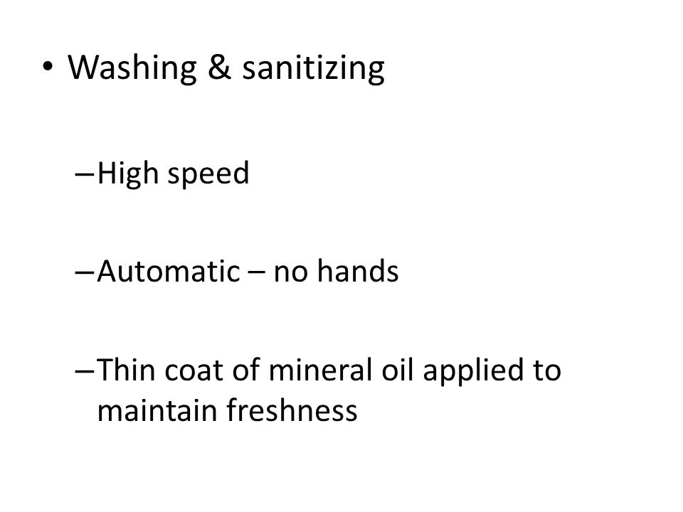Washing & sanitizing High speed Automatic – no hands