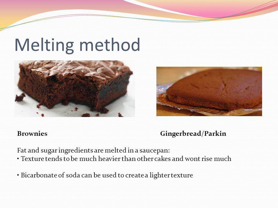 Melting method Brownies Gingerbread/Parkin