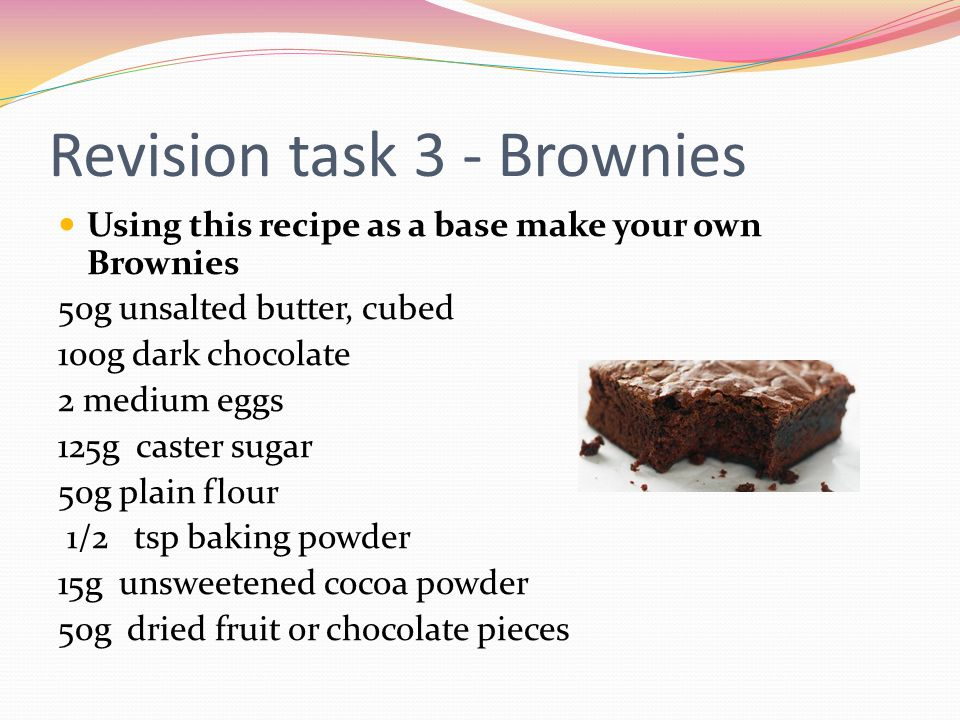 Revision task 3 - Brownies