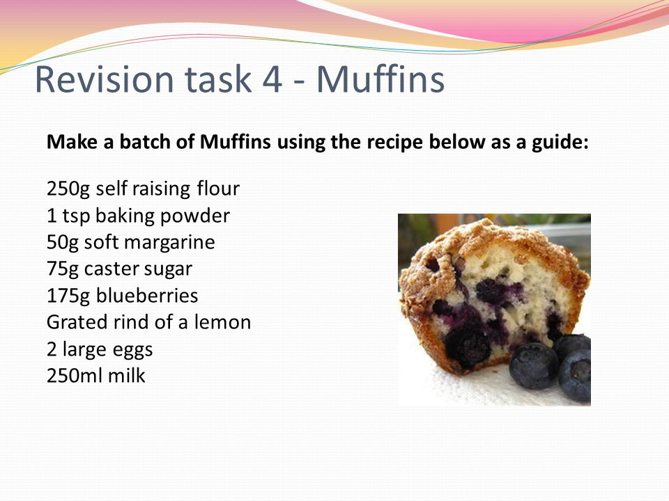 Revision task 4 - Muffins
