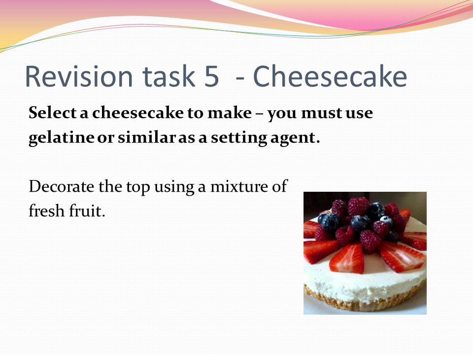 Revision task 5 - Cheesecake