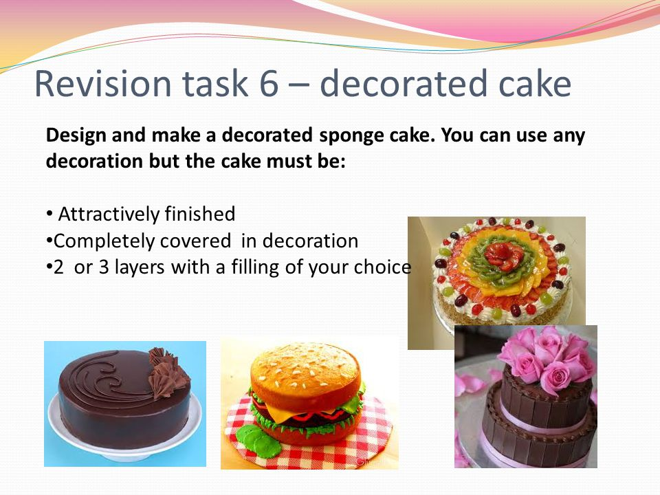 Revision task 6 – decorated cake