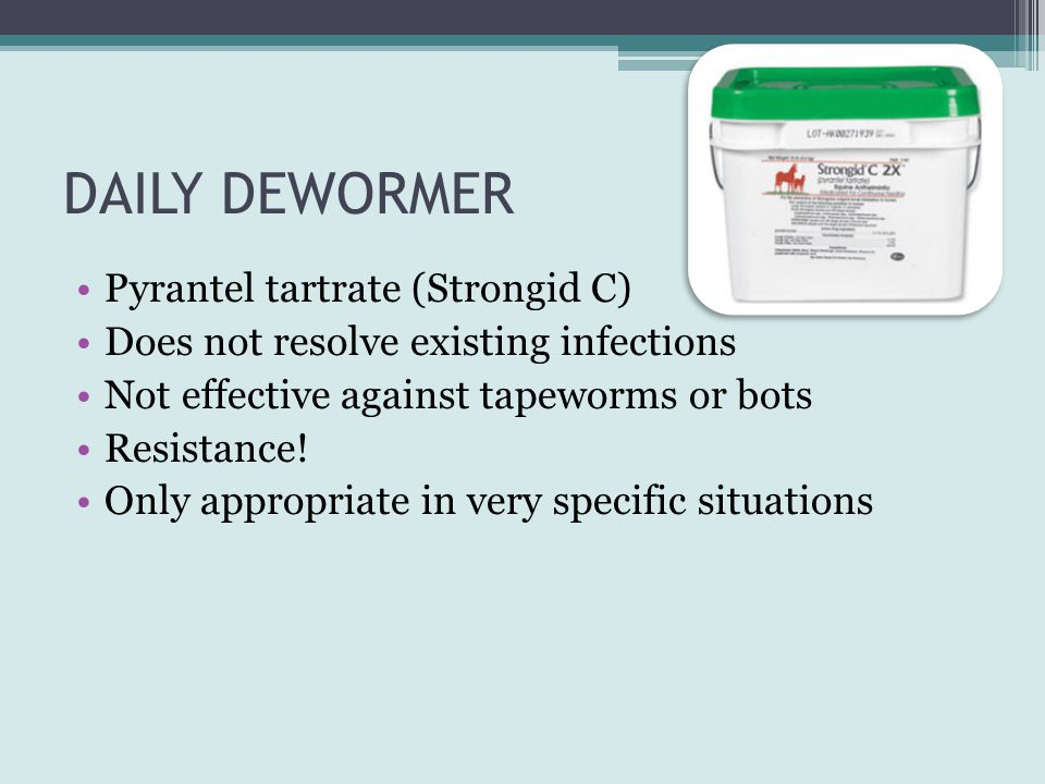 DAILY DEWORMER Pyrantel tartrate (Strongid C)