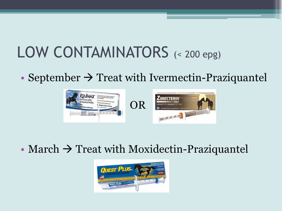 LOW CONTAMINATORS (< 200 epg)
