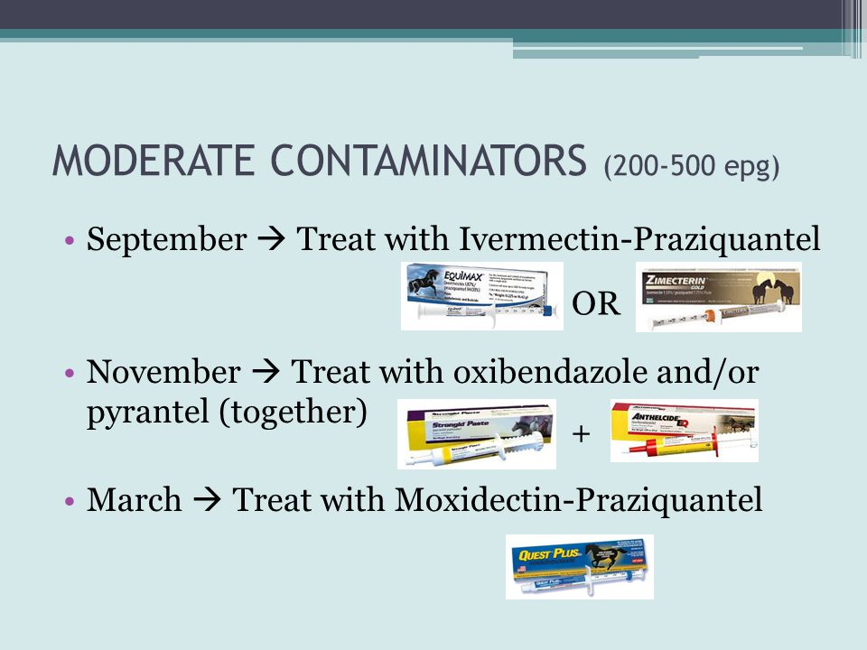 MODERATE CONTAMINATORS (200-500 epg)