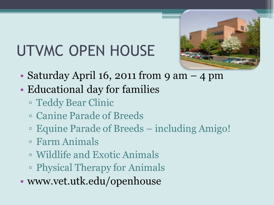 UTVMC OPEN HOUSE Saturday April 16, 2011 from 9 am – 4 pm