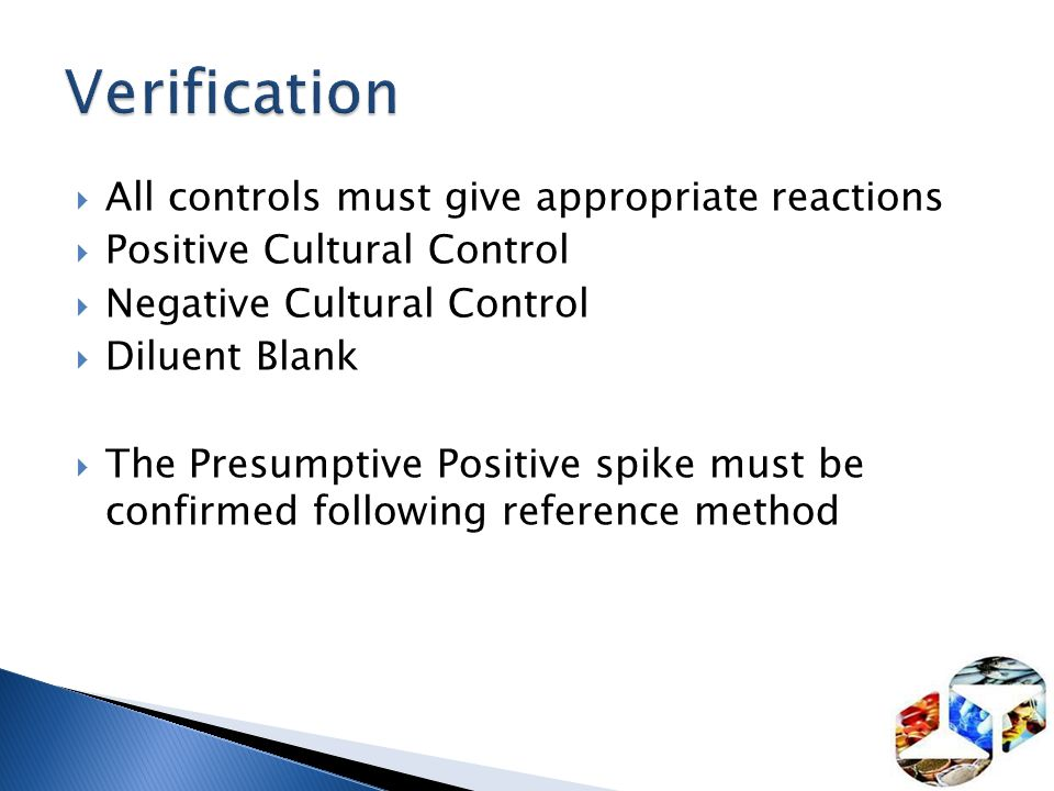 Verification All controls must give appropriate reactions