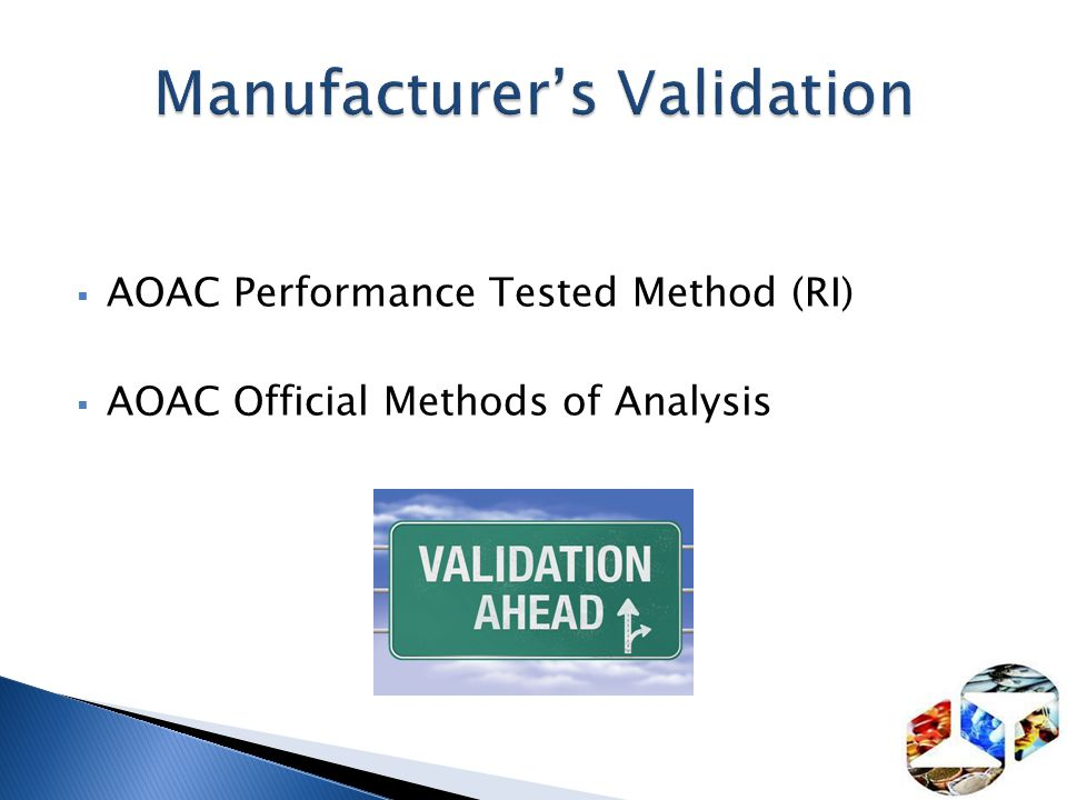 Manufacturer's Validation